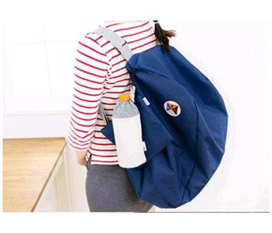 BLUE COLOR 3 Way Multiple Use Fold-able Travel Bag Good for Travel Daily Use