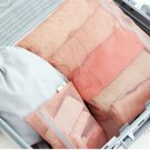 1 Set PEACH COLOR 4 Different SIZE Travel Packing Mesh Travel Pouch