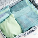 1 Set LAKE BLUE COLOR 4 Different SIZE Travel Packing Mesh Travel Pouch