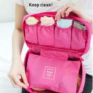 HOT PINK Color Travel Use Multiple Pocket Packing Pouch Good for Underwear