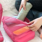 Packing Squares 30 X 20 x 13 cm HOT PINK Color Multiple Organizing Easy Use Fold-able Travel Pouch