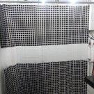 Mosaic Pattern BLACK Color 180 x 180 cm PEVA Plastic Shower Curtain Set