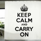 Bathroom Use SHOWER CURTAIN 180 x 200 cm KEEP CALM & CARRY ON Black & White Set