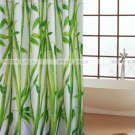 BAMBOO Pattern POLYESTER Plastic 180 x 180 cm Bathroom SHOWER CURTAIN Set