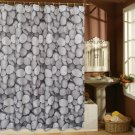 COBBLESTONE Classic Design 180 x 180 cm Bathroom Polyester SHOWER CURTAIN SET