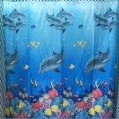 DOLPHIN Under the Sea Adorable Design 178 x 178 cm Bathroom Use SHOWER CURTAIN