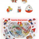 SANRIO Different Character Patty & Jimmy RED Set Original Kawaii Stickers Sack Sticker Flakes