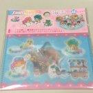 LITTLE TWIN STARS Sanrio Original Kawaii Sticker Flakes Cartoon Sticker 45 Piece