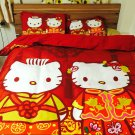 Hello Kitty Dear Daniel CHINESE STYLE WEDDING DRESS KING SIZE COTTON BED SHEET