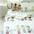 PEANUT Snoopy & Friend Cartoon QUEEN SIZE 4pcs 100% COTTON BED SHEET Bedding Set