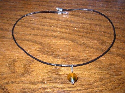 Two Tone Dark Orange Necklace