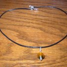 Two Tone Dark Orange Necklace
