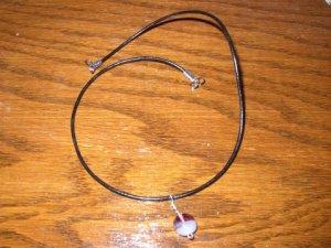 Two Tone Purple White Necklace