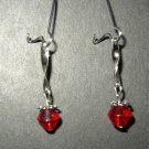 Red Twisted Earring