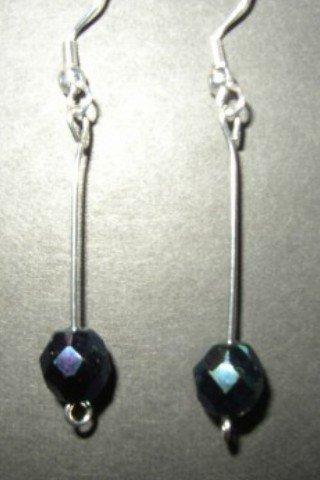 Metallic Blue Crystal Earring
