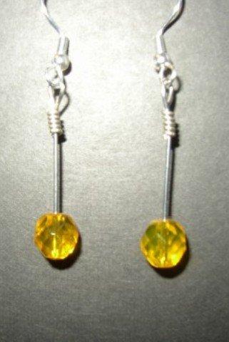 Yellow Crystal Earring