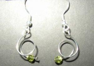 Green Twist Earring