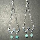 Double Blue Chandelier Earrings