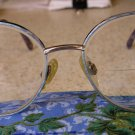 Womens Mens Metal Frame Eyeglasses in Color: #3 SILVER WITH BLUE Very Nice