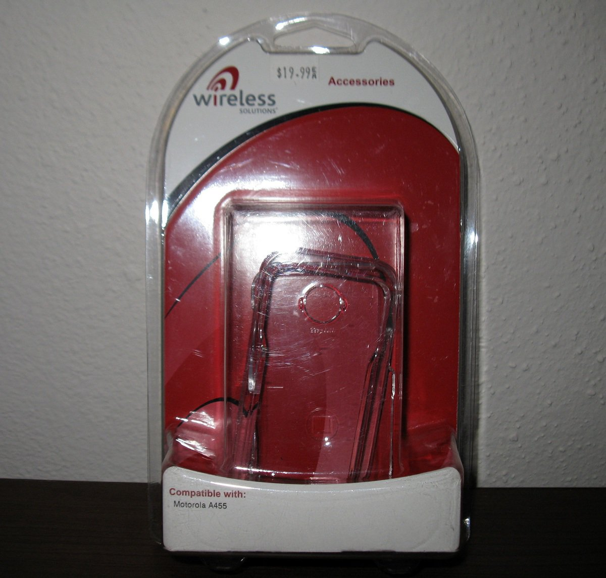 Clear Color Snap on Cover for Motorola A455 Phone New & Sealed #D23