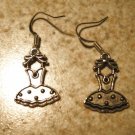 Earrings Tibetan Silver Tutu Charm Pierced Dangle NEW #478