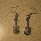 Earrings Pierced Tibetan Silver Guitar Charm NEW #704