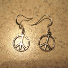 Earrings Pierced Tibetan Silver Peace Charm NEW #471