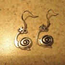 Earrings Pierced Tibetan Silver Snail Charm NEW #476