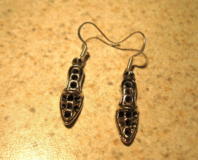 Earrings Tibetan Silver Slippers Charm Pierced Dangle NEW #503