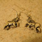 Earrings Pierced Tibetan Silver Unicorn Colt Charm NEW #434