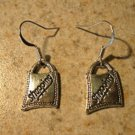 Earrings Tibetan Silver Shopping Bag Charm Pierced Dangle NEW #706