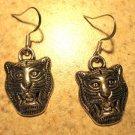 Earrings Tibetan Silver LSU Tiger Charm Pierced Dangle NEW #565