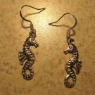 Earrings Tibetan Silver Seahorse Charm Pierced Dangle NEW #561