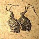 Earrings Tibetan Silver Poker Hand Charm Pierced Dangle NEW #710