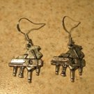 Earrings Tibetan Silver Piano Charm Pierced Dangle NEW #732