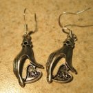Earrings Tibetan Silver Love Hand Charm Pierced Dangle NEW #737
