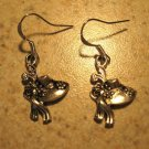 Earrings Tibetan Silver Hat Charm Pierced Dangle NEW #562