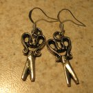 Earrings Pierced Tibetan Silver Scissors Charm NEW #767