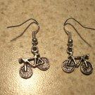 Earrings Tibetan Silver Bicycle Charm Pierced Dangle NEW #456