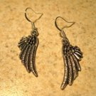 Earrings Pierced Tibetan Silver Angel Wing Charm NEW #733