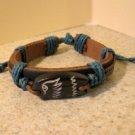Bracelet Unisex Black Leather Eagle Charm Punk Style HOT! #575