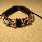 Black Leather Unisex Punk Surfer Bracelet Decorative Shell Design HOT! #799