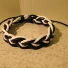 Black and White Leather Unisex Punk Bracelet with Braid Design HOT! #923