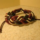 Multi Color Leather Unisex Punk Surfer Bracelet with Braid Design HOT! #569