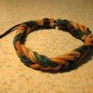 Tan Aqua Mustard Multi Color Leather Unisex Punk Surfer Bracelet with Weave Design HOT! #986