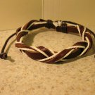 Brown Leather Unisex Punk Surfer Bracelet Cross Braid Design HOT! #924