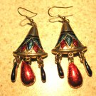 Colorful Gold Chandelier Earrings New and Beautiful #438