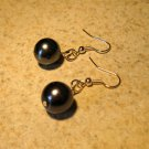 Black Pearl Dangle Earrings New and Beautiful #104