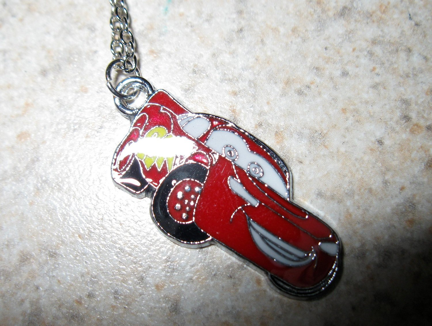 Lightening McQueen From Cars Child Necklace & Pendant New #787
