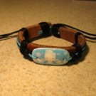 Childs Hello Kitty Charm Brown Leather Punk Bracelet New #207